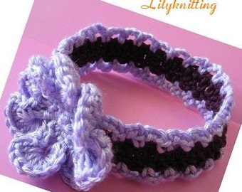 PATTERN in PDF Crocheted headband in all sizes from newborn o lady size -- Headband 18