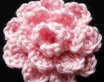 flower pattern PATTERN crocheted flower applique, motif, Rose Flower -- Flower 28