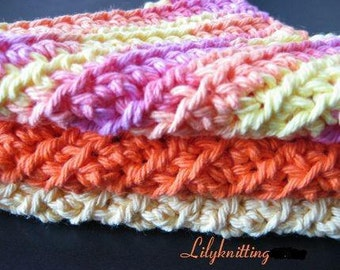 Pattern in PDF -- Easy Pattern -- Crocheted dishcloth/washcloth/ragcloth textured dish cloth -- Dishcloth 32