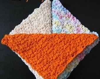 Pattern in PDF -- Super Easy crochet dishcloth washcloth ragcloth -- (Dishcloth 17)