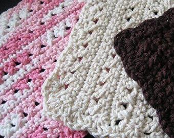 Pattern in PDF -- Crocheted dishcloth/washcloth/ragcloth textured dish cloth -- Dishcloth 21