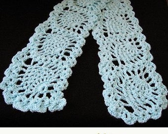 PATTERN in PDF -- Crocheted Pineapple Scarf  (scarf 15) -- Pineapple Scarf