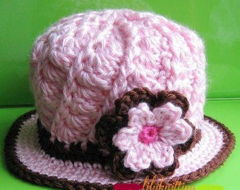 PATTERN in PDF -- Crocheted Baby Cloche (Cloche 12) -- 12 - 24 months and 2T - 4T