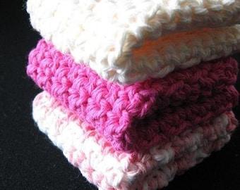PATTERN  in PDF -- crochet dishcloth very flat dish cloth (Dishcloth 29)