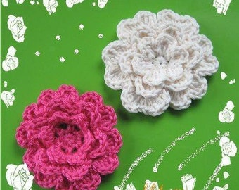 PATTERN in PDF crocheted flower applique -- Flower 19