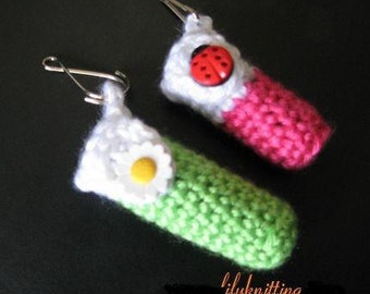 PATTERN in PDF -- Crocheted keychain lip balm holder (Lip Balm Holder 1)