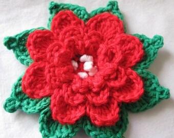 Large Crochet Flower Pattern For Headband : PATTERN in PDF Crocheted baby headband headband 4