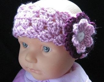 PATTERN in PDF Crocheted flower headband -- Headband 32