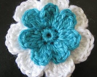 PATTERN in PDF crocheted flower applique, Motify -- Flower 51