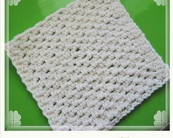 PATTERN  in PDF -- crochet dishcloth, lacy dishcloth, face cloth -- Dishcloth 77