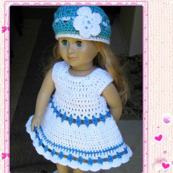 PATTERN Crocheted doll dress for American Girl Gotz or