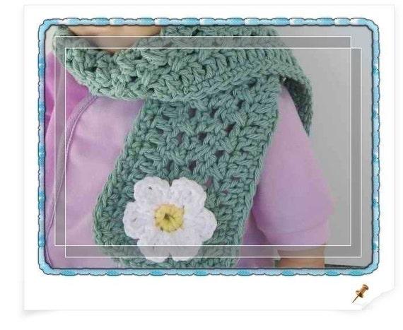 PATTERN in PDF -- crocheted scarf