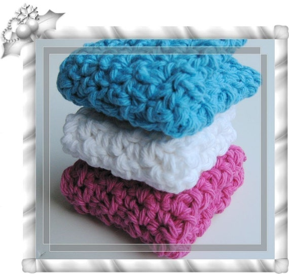 Pattern crochet thick and dense dishcloth/washcloth/ragcloth -- Free shipping