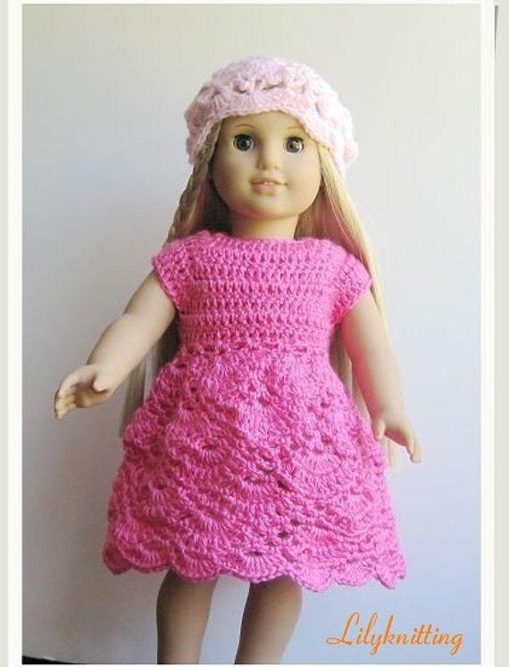 Pattern crocheted doll clothes dress for American Girl, Gotz or ...