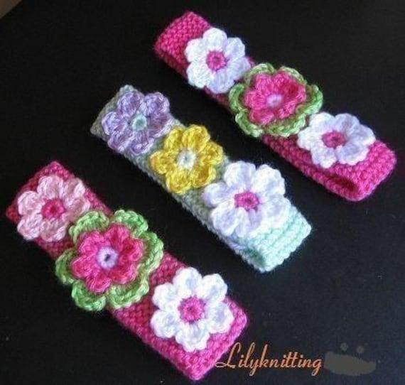 Pattern In Pdf Crocheted Knitted Flower Headband In All