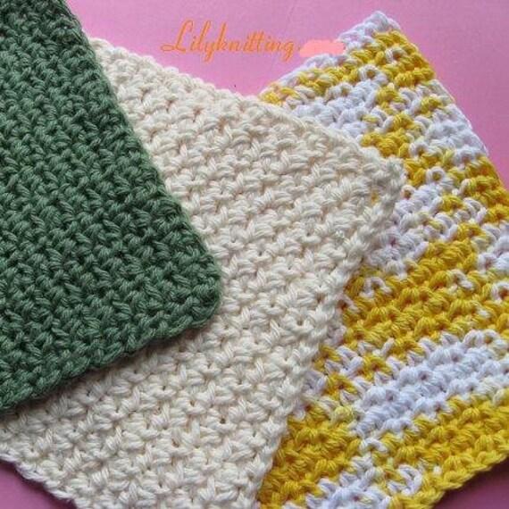Pattern in PDF -- Crocheted dishcloth/washcloth/ragcloth textured dish cloth -- Dishcloth 63
