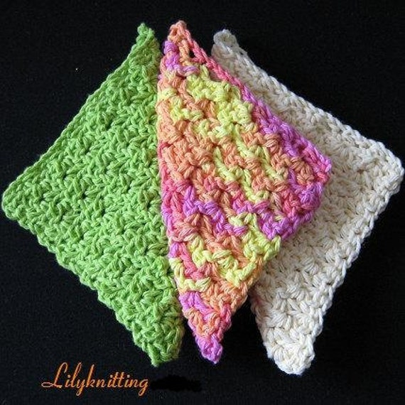 BEV's CROCHETED DISHCLOTH--very quick and easy!