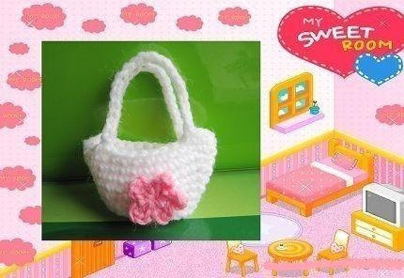 PATTERN in PDF Crocheted doll purse for American Girl/Gotz/Blythe/My twin or similar 15 - 18 inches dolls