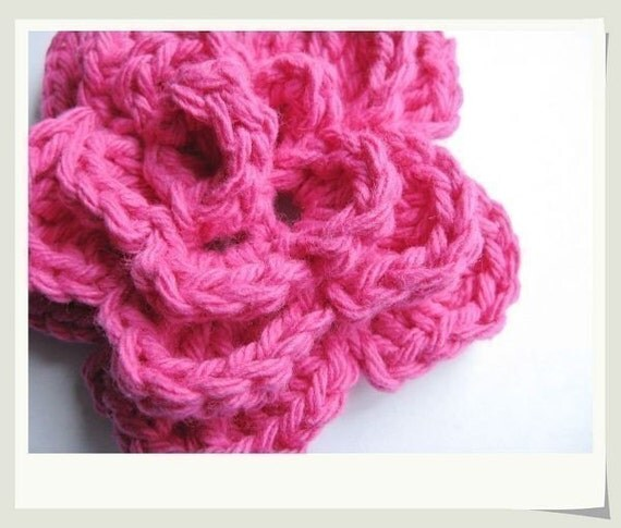 Large Crochet Rose Pattern Free : Pattern Crochet Large 4-layer Rose Flower applique