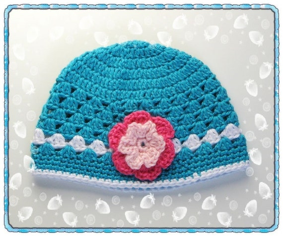 PATTERN Crocheted baby toddler beanie 6 9 months and 9