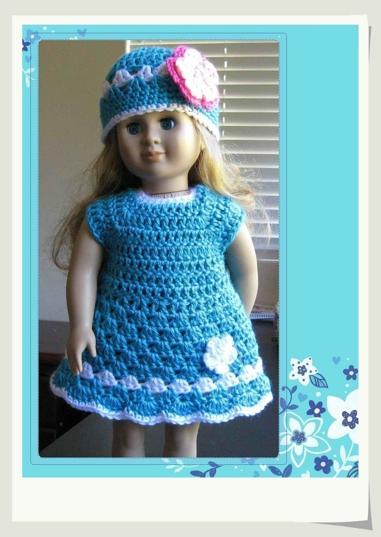 Pattern In Pdf Crocheted Doll Clothes Dress For By