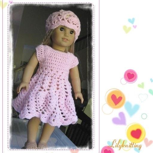 Baby Turtle Amigurumi Pattern : doll dress american girl doll dress PATTERN Crocheted doll