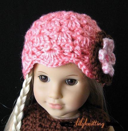 Amigurumi Hello Kitty Angel : PATTERN in PDF Crocheted Doll Beanie Hat for American girl