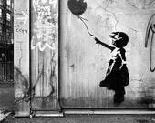 Balloon - Fine Art, Black and White, Signed, 8x8 Print