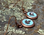 French Blue English Ivy Earrings
