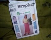 Simplicity Pants Shorts Skirt Long or Short w Ruffle in Sizes XS to XL Uncut