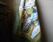 Lake Windermere Dish Towel, vintage