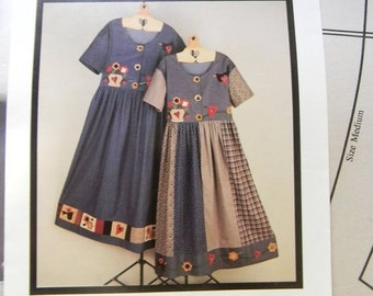 Cobweb Clearing Folk Art Dress Pattern n 348 by Fabricraft, design by Judy Haroutunian Sizes XS to Large