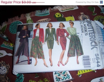 Vintage Butterick Pattern n5644, for Jacket, Blouse and 2 Skirt Options