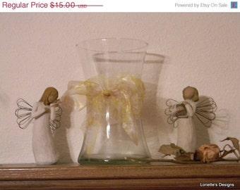 Vintage Hour Glass Shaped Vase