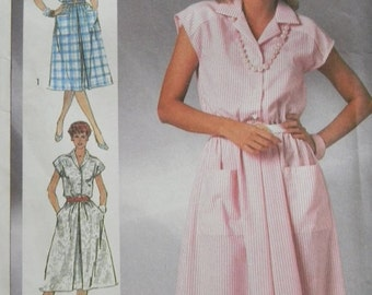 Vintage Simplicity Dress Pattern N7475 Uncut Sizes 10 thru 14 1986