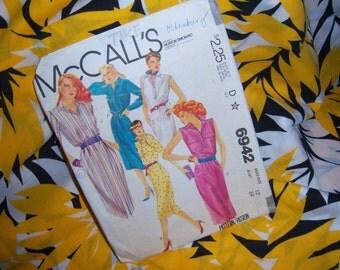 Vingate McCalls 1980 Dress Pattern 6942 Size 12