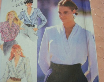 Simplicity Misses, Blouse with Collar and Sleeve Variations Pattern N7453 Size 6 thru 10 Uncut