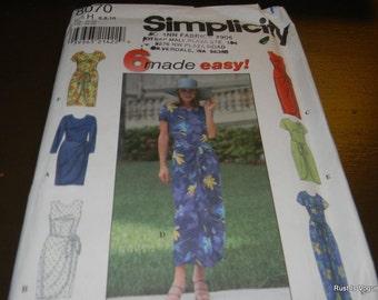 Simplicity Misses Dress Pattern N-8070 Uncut, Sizes 6 thru 10