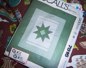 McCall's Quilt Pattern N 78116 Dated 1981