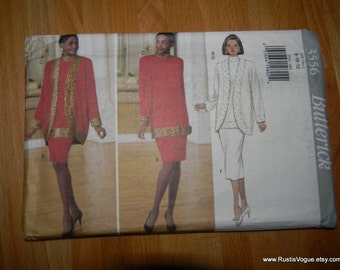 Butterick Misses Jacket, Top and Skirt Pattern N3556 Dated 1994 Sizes 8 Thru 12