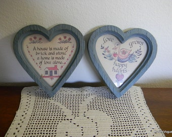 Vintage Heart Wall Plaques