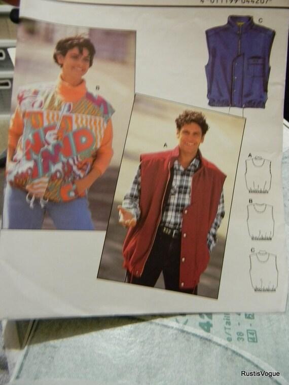 Burda Vest Jacket Pattern n 4420 Multi Unisex Sizes