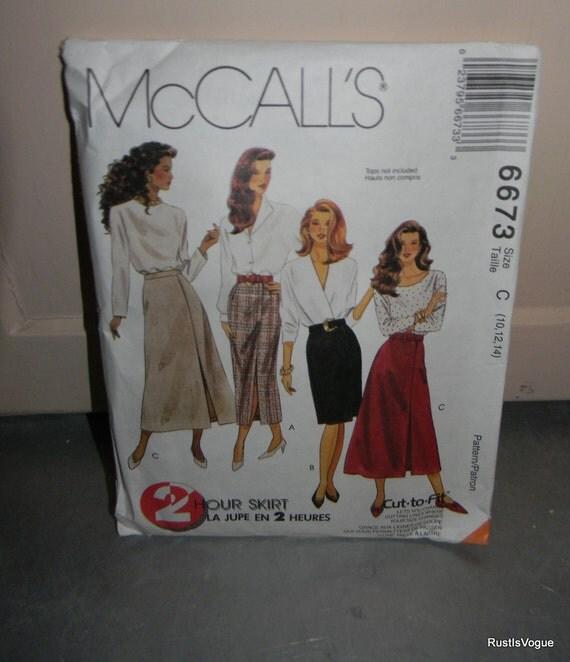 Vintage 1993 McCalls Skirt Pattern N6673 Uncut Sizes 10-14