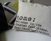 PERSONALIZED Pillow Cover with your NAME FAMILY HOME