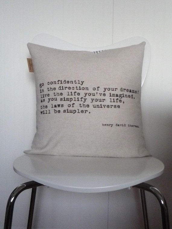 Items similar to Inspirational Industrial Chic BEAUTY OF SIMPLICITY Modern Throw Pillow Cover ...