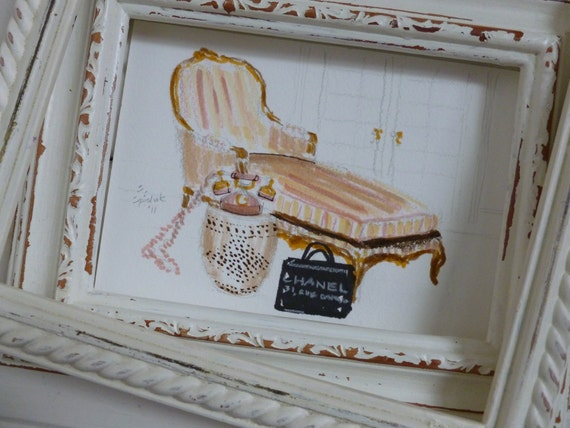 Isabelle's Chaise Lounge...Original Sketch