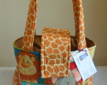 Small Jungle Babies Toddler Short Trip Diaper Bag Adorable  New Print