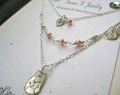 Hand Stamped Mother Daughter Necklace