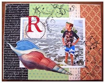 Beach-11x14 or 12x12 Custom Photo Collages