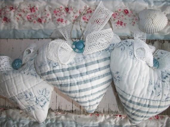 Beach Cottage Lavender Hearts Sachets Best Gift